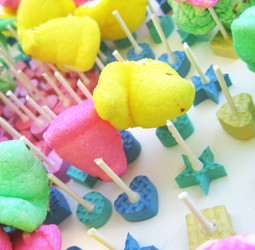How to make a slingshot game from peeps