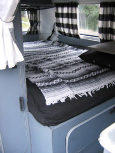 1969 VW Bus Bed | Inspiration for restoring and living in a VW bus.