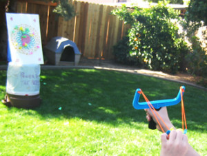 Peep Slingshot and Target | How to make a slingshot game from peeps.