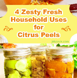 4 Zesty Fresh Household Uses for Citrus--Orange, Lemon, and Lime Peels | jnkdavis.com
